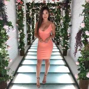 House of CB dress - peach size small